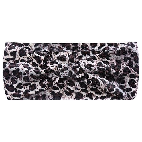 Haarbandje Leopard - Grijs