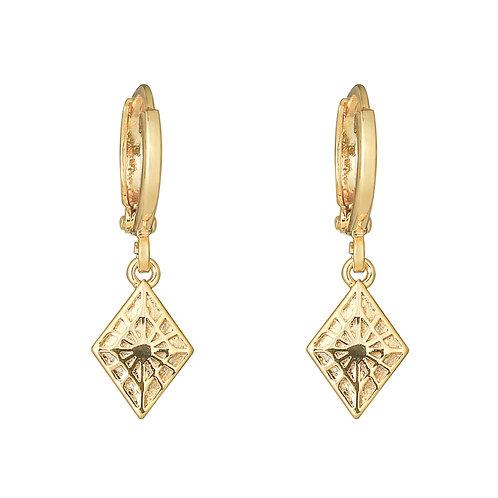Oorbellen 'Lovely Diamond' - Goud