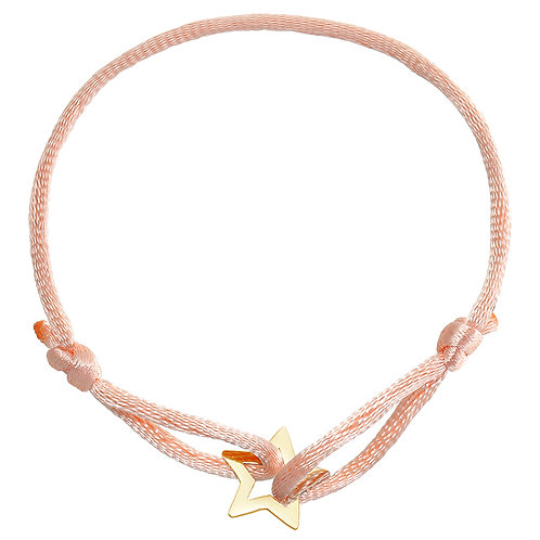 Armbandje 'Star' - Salmon