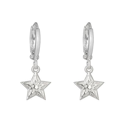Oorbellen 'Sparkling Star' - Zilver