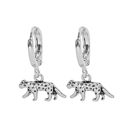 Oorbellen 'Lucky Leopard' - Zilver