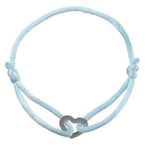 Armbandje 'Hartje' - Blauw