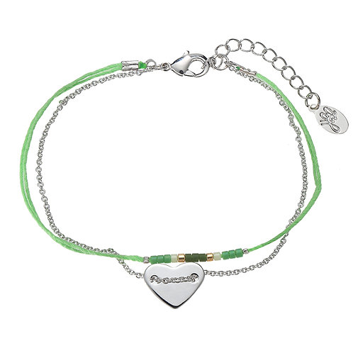 Armband 'Love on a String' - Groen