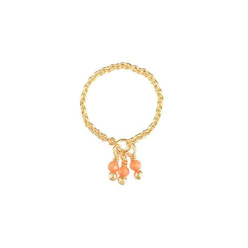 Ring 'Dazzling Beads' - Goud