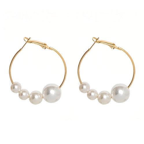 Oorbellen 'Fearless Pearls' - Goud