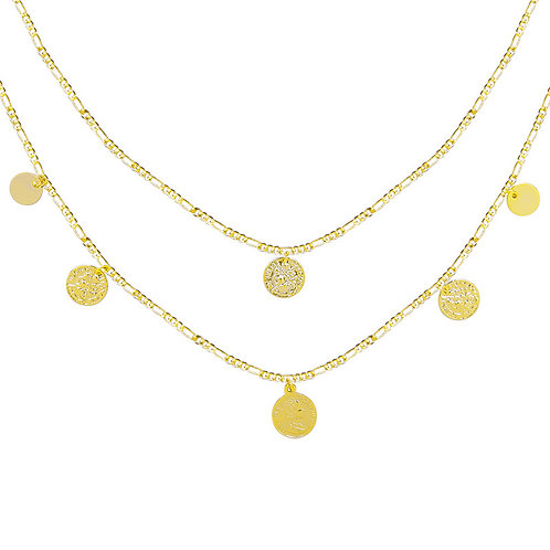 Ketting 'Double Coins' - Goud