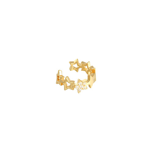 Earcuff - Stars in a Row - Goud