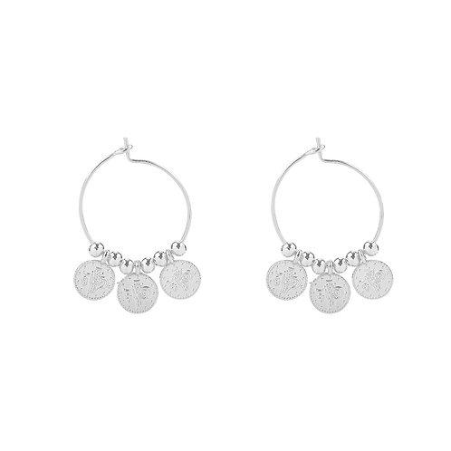 Oorbellen 'Tiny Coins' - Zilver
