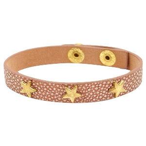 Armband 'Stars' - Roze