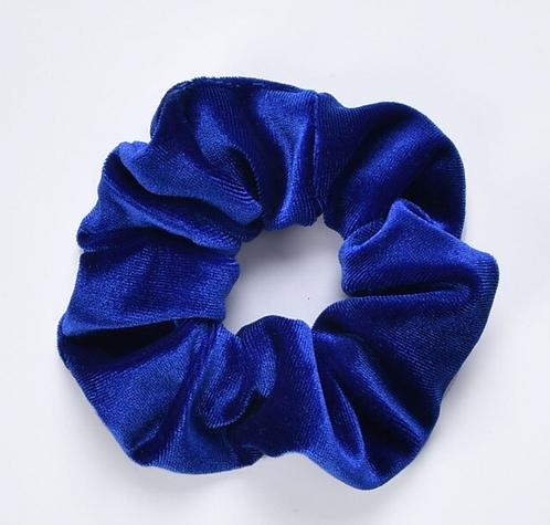 Velvet Scrunchie - Kobalt