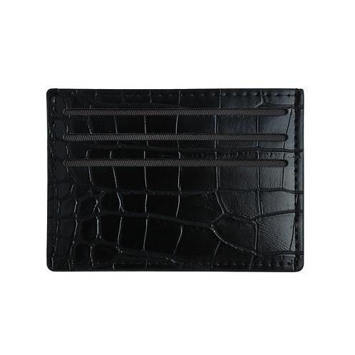 Pasjeshouder Croco - Zwart