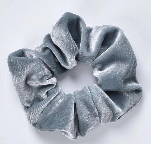 Velvet Scrunchie - Ice Blue