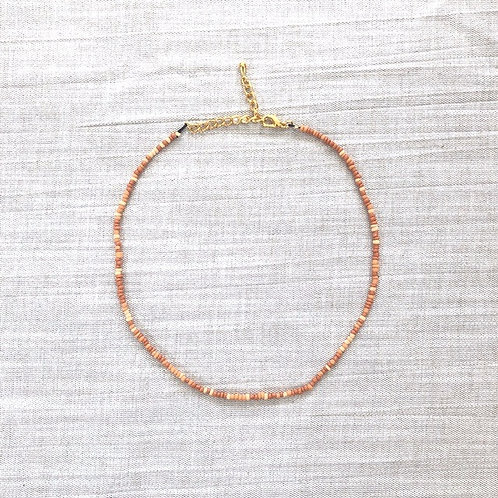 Kralenketting - 'Rusty Orange'