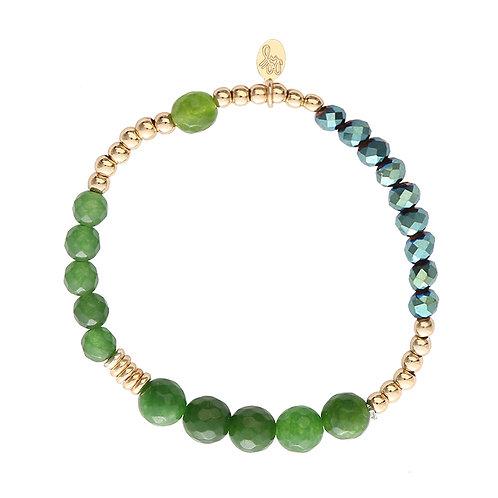 Armband 'Sparkle Beads' - Groen