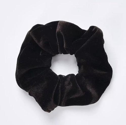 Velvet Scrunchie - The Darkest Brown