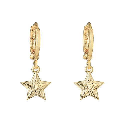 Oorbellen 'Sparkling Star' - Goud