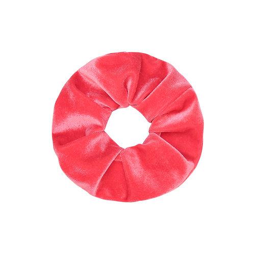 Velvet Scrunchie - Coral