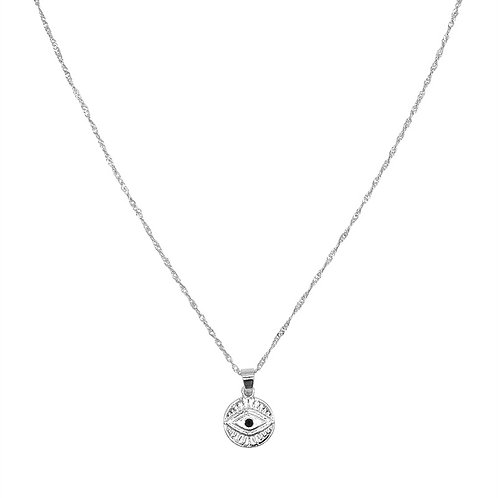 Ketting 'Curious Eyes' - Zilver