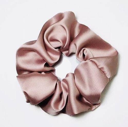 Satin Scrunchie - Vintage Pink