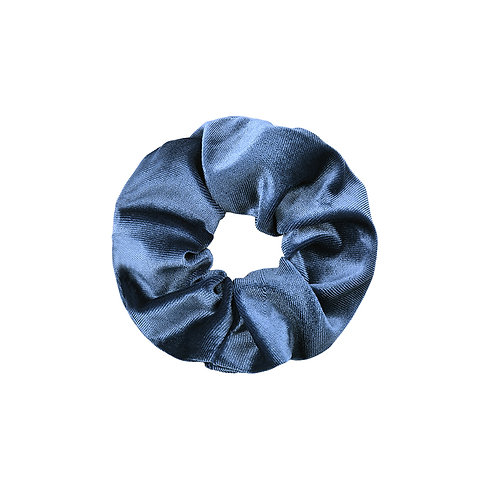 Velvet Scrunchie - Ocean Blue