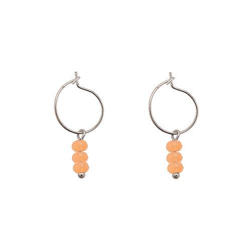 Oorbellen 'Three Stones' - Oranje