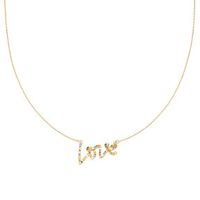 Ketting 'Colorful Love' - Goud