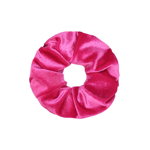 Velvet Scrunchie - Fuchsia