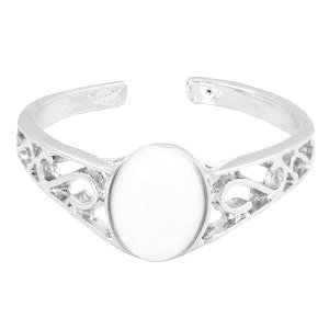 Ring 'White Stone' - Zilver