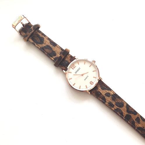 Horloge 'Panter' - Bruin