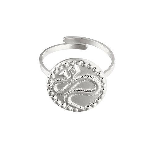 Ring 'Vintage Snake' - Zilver