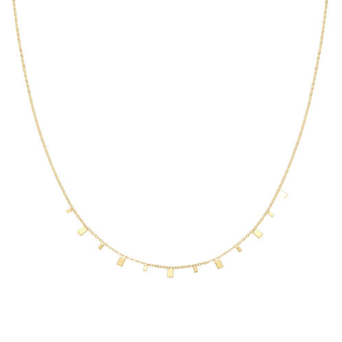 Ketting 'Rectangle Confetti' - Goud