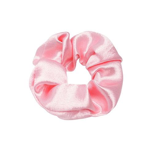Satin Scrunchie - Barbie Pink