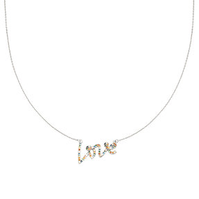 Ketting 'Colorful Love' - Zilver