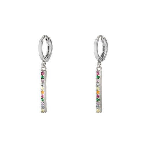 Oorbellen 'Glitter & Glamour' - Zilver
