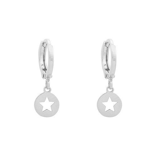 Oorbellen 'Catch a Star' - Zilver