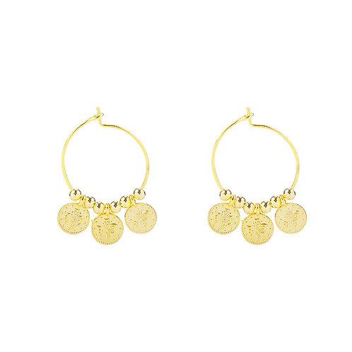Oorbellen 'Tiny Coins' - Goud