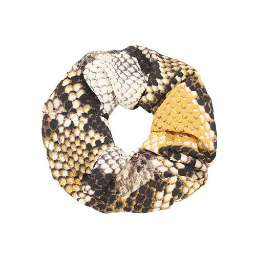 Snake Scrunchie - Geel
