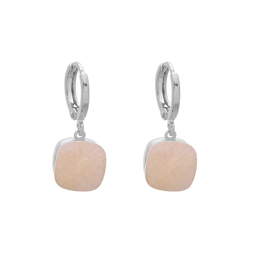 Oorbellen 'Call it Magic' - Beige/Zilver