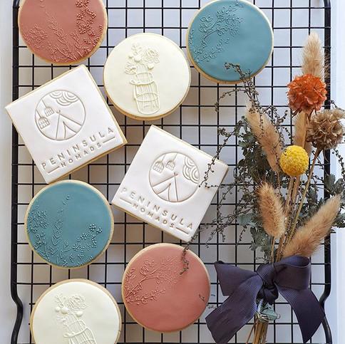 Peninsula Nomads branded cookies