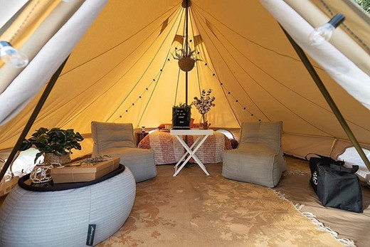 🔸 Private GLAMPING experiences are the