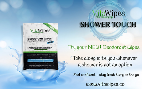 DEODORANTS WIPES TO GO NATURAL SLS FREE
