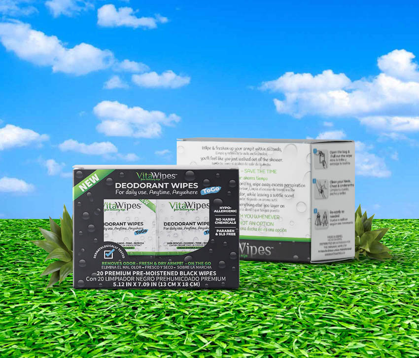 vitawipes natural deodorant wipes