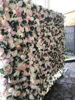 Blushing Blossoms Flower Wall