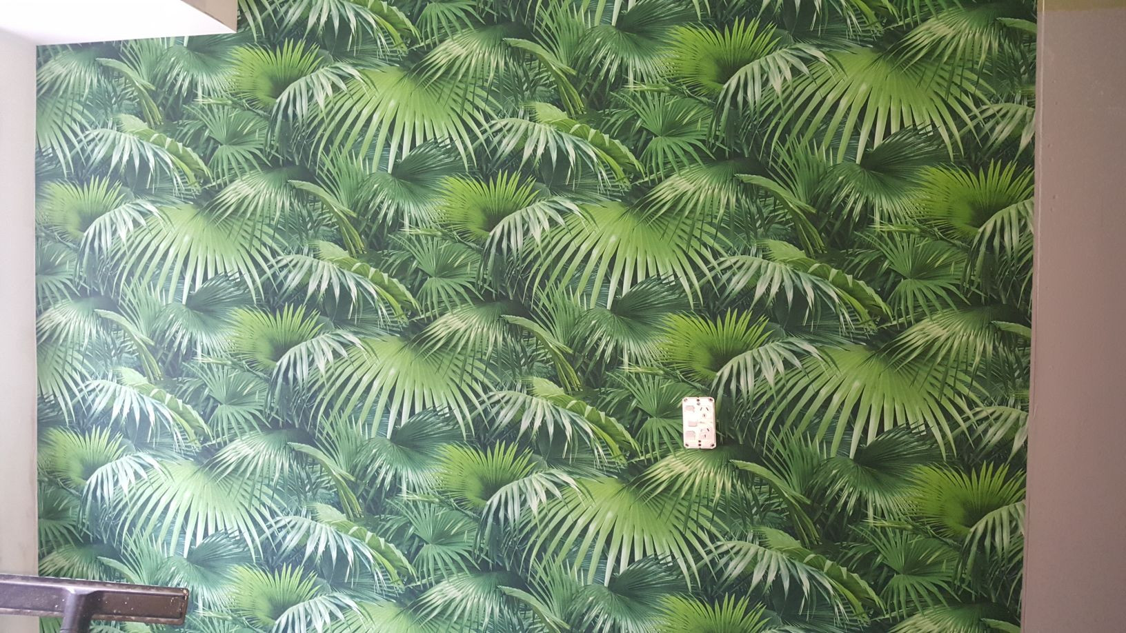 Wallpapered feature wall