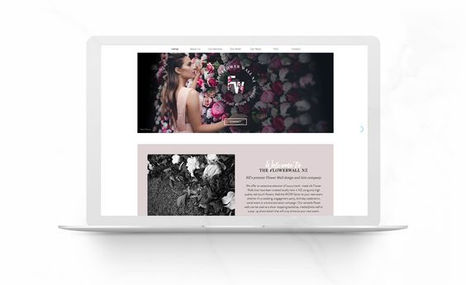 The Flower Wall NZ Branding and design with custom Gif's and roll-ove...