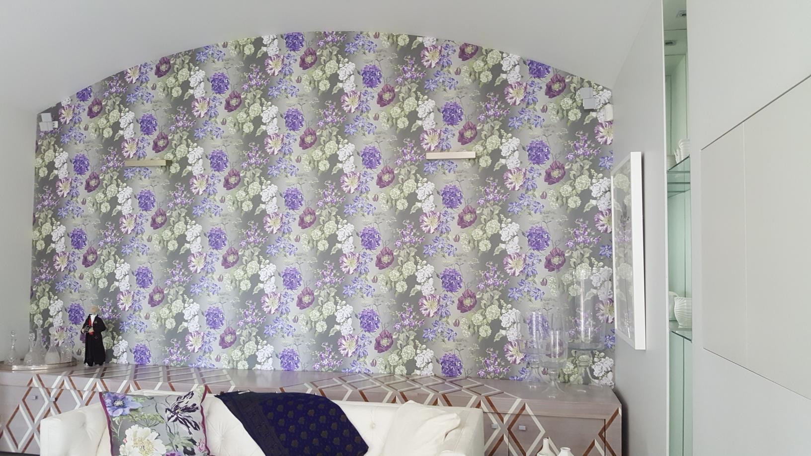Wallpapered feature