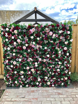 Mulled Berry Blooms Flower Wall