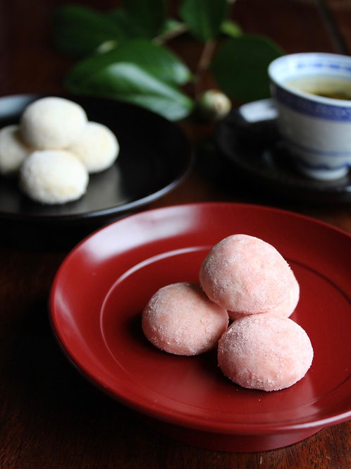 《Patisserie》ピンクのスノーボール . Pink Snowball Cookies