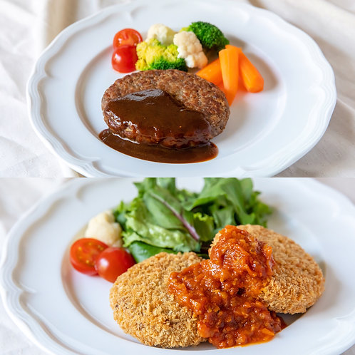 """《Grocery》ハンバーグ&メンチカツギフトセット . """"Hamburg"""" and """"Minced Cutlet"""" Set"""
