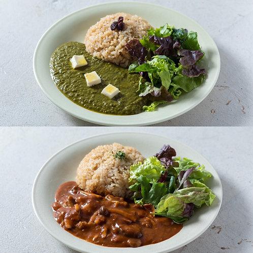 《Grocery》ハヤシライス&グリーンカレーセット . Hayashi & Green Curry Set (GF)